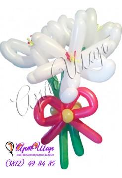 Букет цветов из  воздушных шаров  «Лилии»