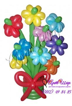 Букет цветов «Весенний» из  воздушных шаров
