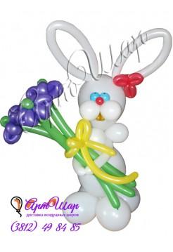 Букет цветов из воздушных шаров «Зайчик»
