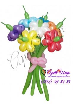 Букет «Разноцветные ромашки»