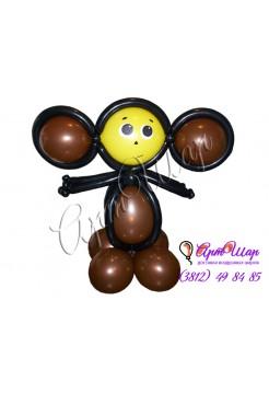 Фигура «Чебурашка» из воздушных шаров