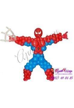 Фигура «Человек паук» из воздушных шаров