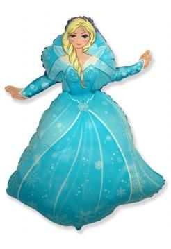 Фольгированная фигура «Снежная королева» с гелием