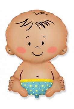 Фольгированная фигура «Малыш мальчик» с гелием