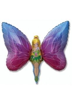 Фольгированная фигура «Фея-бабочка» с гелием