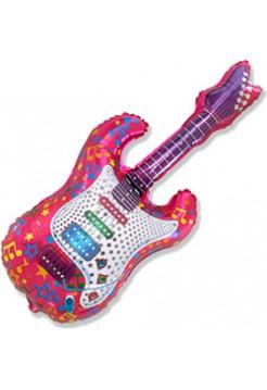 Фольгированная фигура «Гитара» с гелием