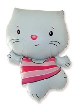 Фольгированная фигура «Китти» с гелием