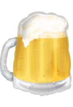 Фольгированная фигура «Кружка пива» с гелием