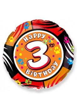 Фольгированный круг «Happy Birthday 3» с гелием